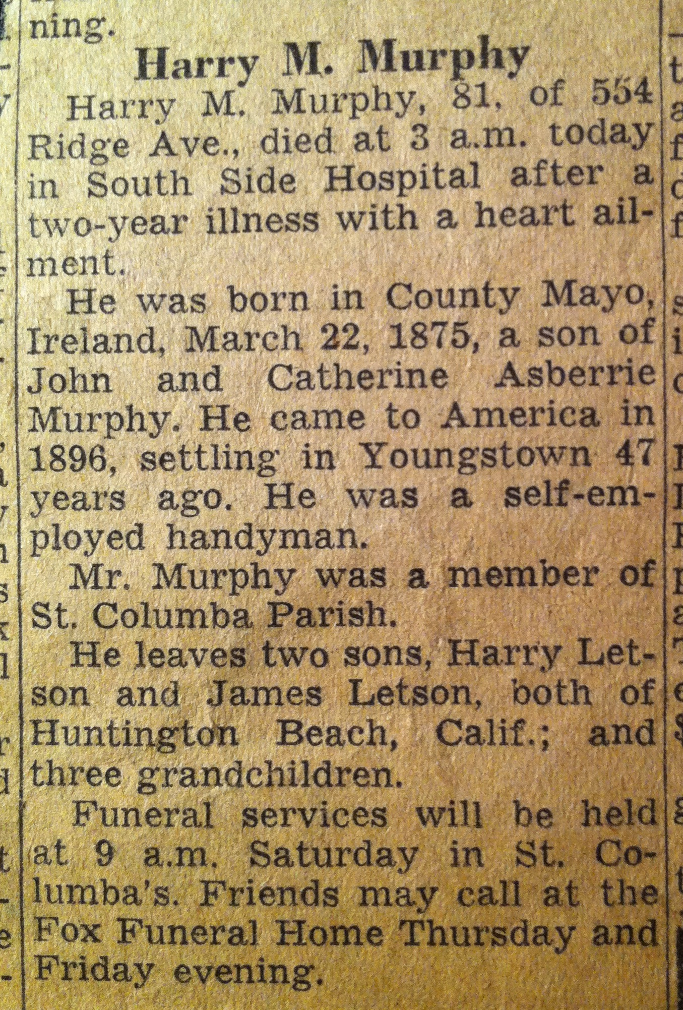 Times And Transcript Old Obituaries 27