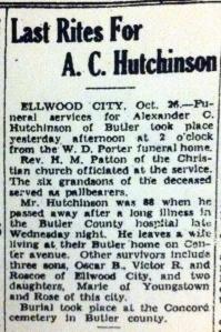 AC Hutchinson Obit